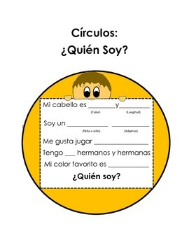 Who Am I Circles in Spanish