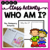 Who Am I Classroom Activity - Beginning of the Year/End of