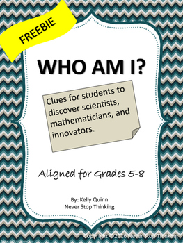 Who Am I? Clues leading to a famous scientist, mathematician or inventor