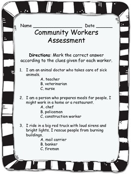 Who Am I? Community Workers Assessment