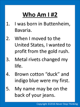Who Am I? Complete Set! Clues to a famous person in science, math, or inventions