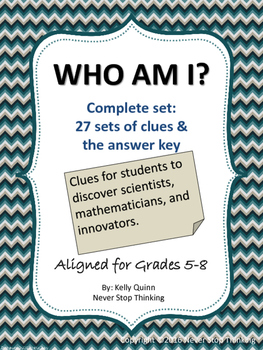 Who Am I? Complete Set! Clues to a famous person in scienc