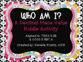 Decimal Place Value Riddles