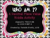 Decimal Place Value Riddles