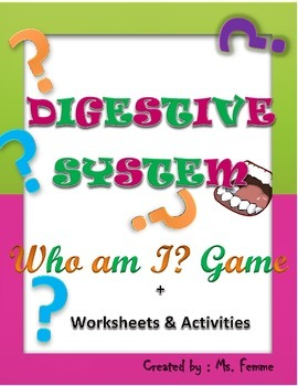 Who Am I? Digestive System Game