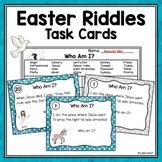 Who Am I?  Easter Riddles Task Cards