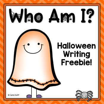 Who Am I?  Halloween Writing Freebie