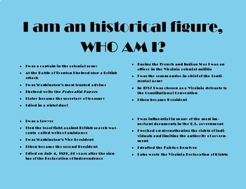 Who Am I? Historical Figures