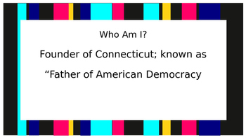 Who Am I?: Important People of Colonization and American Revolution
