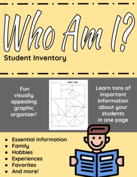 Who I Am Inventory - student information graphic organizer