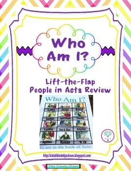 Who Am I? Lift-the-Flap People in Acts Freebie