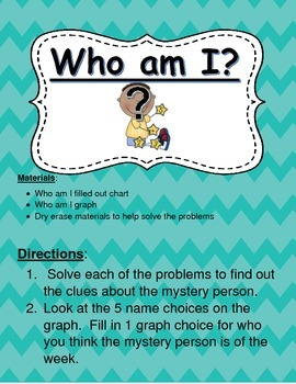 Who Am I Math Center: Fact Review