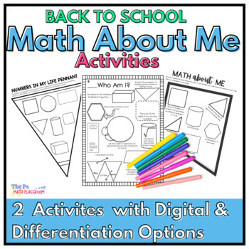 Back to School Math: Who is Who? Math About Me Activities for Middle School