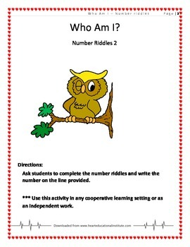 Who Am I ? Number Riddles 2