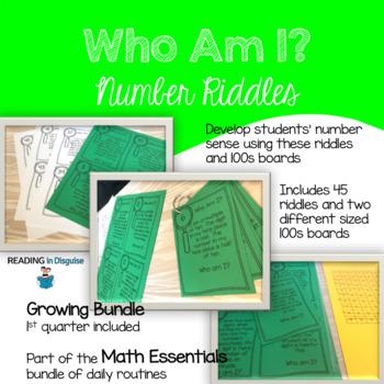 Who Am I? Number Sense Riddles