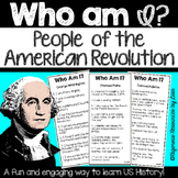 Who Am I? People of the American Revolution