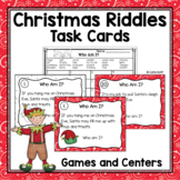 Christmas Riddles Task Cards - Who Am I?  Read and Write the Room