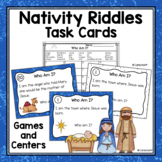 Who Am I?  Read and Write the Room Nativity Riddle Task Cards