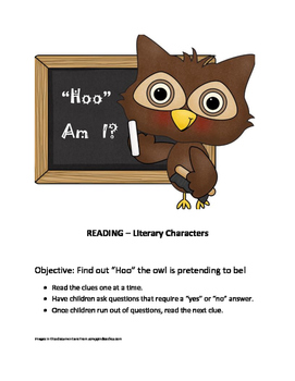 Who Am I? - Reading: Literary Characters