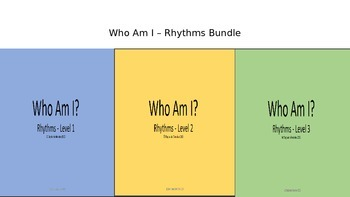 Who Am I - Rhythms Bundle