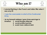 Who Am I?  Social Studies US History Grade 8 STAAR Review