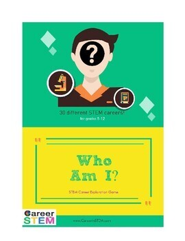 Who Am I? Game: STEM careers - great back to school activity!
