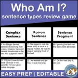 Who Am I? Sentence Types Activity