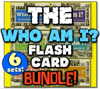 Who Am I: The Flash Card Bundle! 6 Editions for World & Am