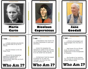 Who Am I: The Science Edition (Classroom Trivia and Review Flash Cards)