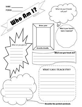 Who Am I Worksheet