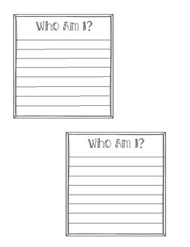 Who Am I? Writing Prompt