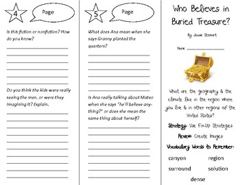 Who Believes in Buried Treasure? Trifold - 4th Grade Literacy by Design Theme 5