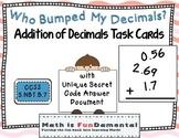 Who Bumped My Decimals? Addition of Decimals Task Cards CCSS  5.NBT.B.7