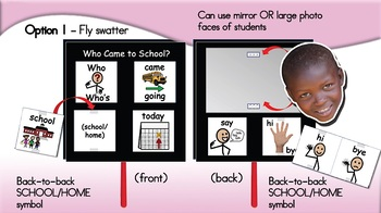 Who Came To School Today - Fan Display - SymbolStix