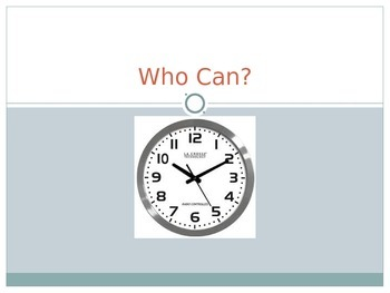 Who Can...