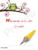 Who Can Do Word Work - Daily 5?