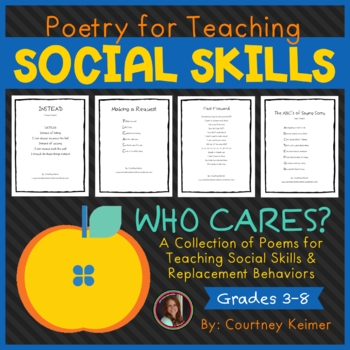 Who Cares? Poetry for Teaching Social Skills and Replacement Behaviors