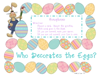 Who Decorates the Eggs?
