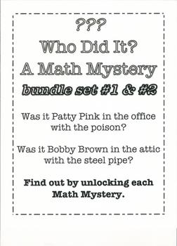 "Who Did It? A Math Mystery ""BUNDLE"""