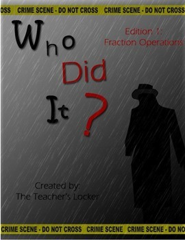 Who Did It? Edition 1  A Cross Curricular Murder Mystery