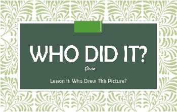 Who Did It? Quiz