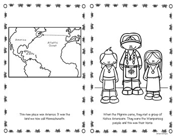 Who Did The Pilgrims Meet? {A Story About the Wampanoag} First Grade Reader