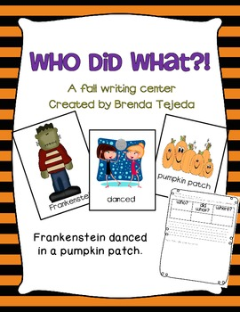 Who Did What?! A Halloween/Fall Writing Center