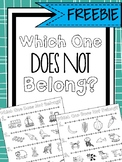 Which One Does Not Belong? Print & Go Worksheets for Exclusion & Categorization