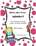 Who Do You Admire. A lesson plan on being thankful. Lunch Bunch