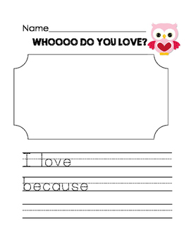 Who Do You Love? Valentine's writing