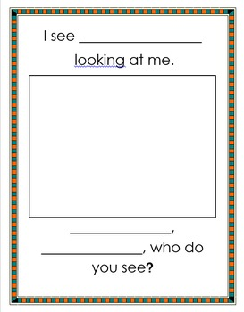 Who Do You See?-Editable (Brown Bear...)