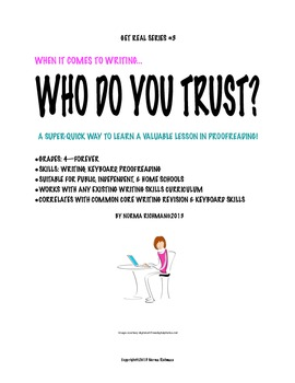 Who Do You Trust? A Writing Skills Lesson Plan for Proofreading