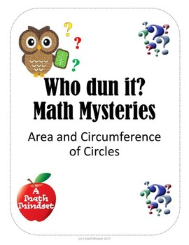 Who Dun it Math Mysteries Circumference and Areas