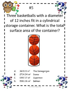 Who Dun it? Math Mystery-Surface Area